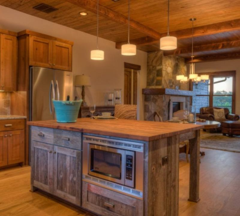 Oak Kitchen Carts And Islands 15 reclaimed wood kitchen island ideas rilane 15 reclaimed wood kitchen island ideas workwithnaturefo