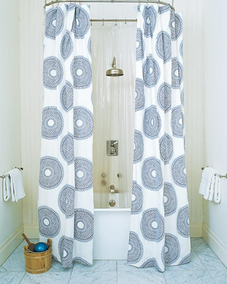 10 extra long shower curtain ideas rilane Bathroom shower curtain ideas