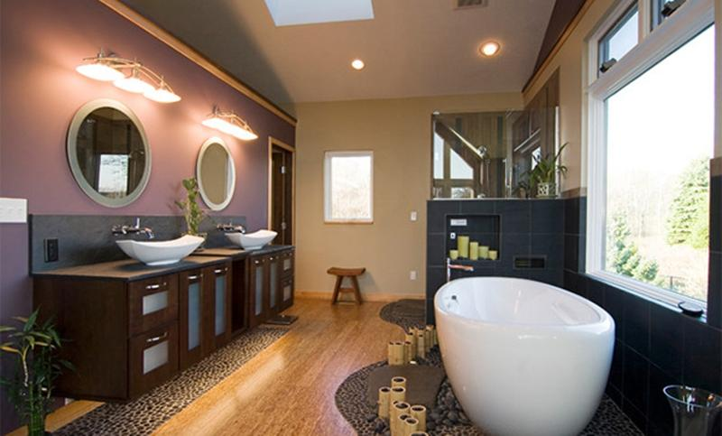 Relaxing Asian Retreat Bathroom