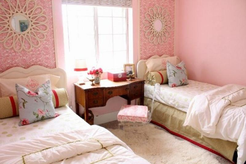 Romantic Twin Girls Bedroom