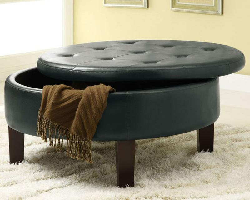 round ottoman with storage