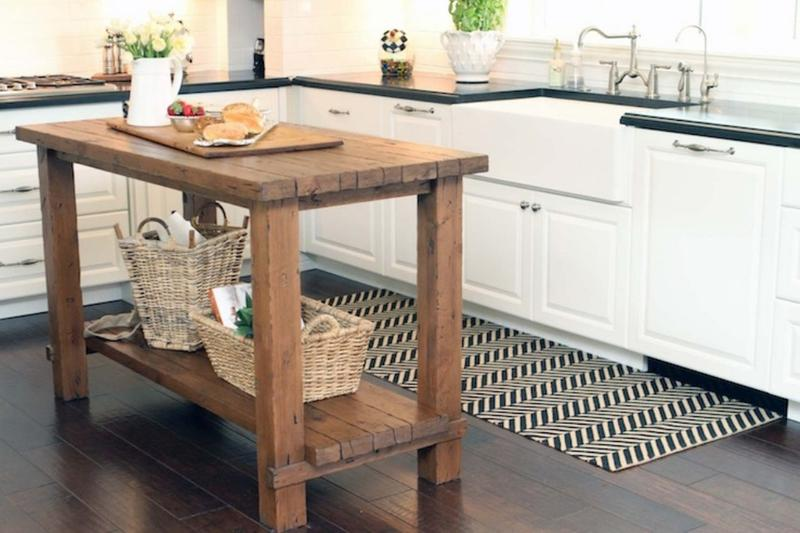 15 Reclaimed Wood Kitchen Island Ideas - Rilane