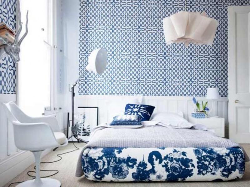 Blue Bedrooms Part - 47: Scandinavian Blue Bedroom