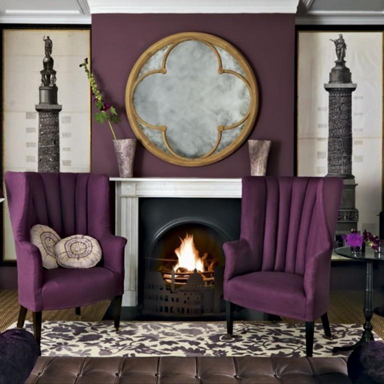 Dazzling Purple Living Room Designs