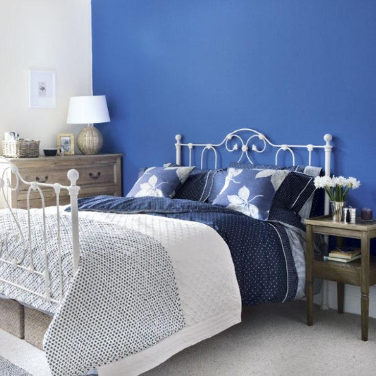 Vibrant Blue Bedroom Design Ideas