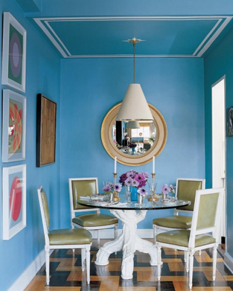 Small Blue Dining Room