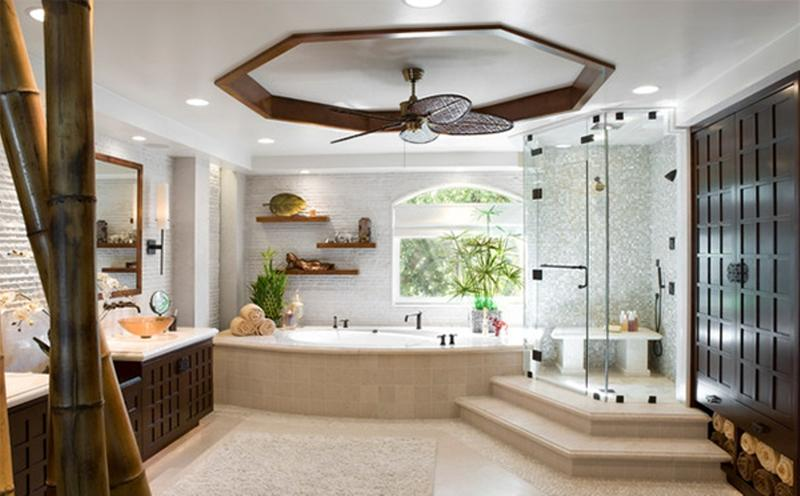 Spacious Asian Bathroom. Image Source:Arch Interiors Design Group, Inc.