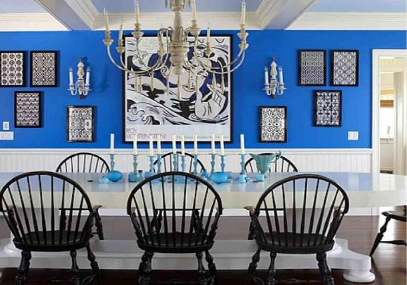 Stylish Blue Dining Room