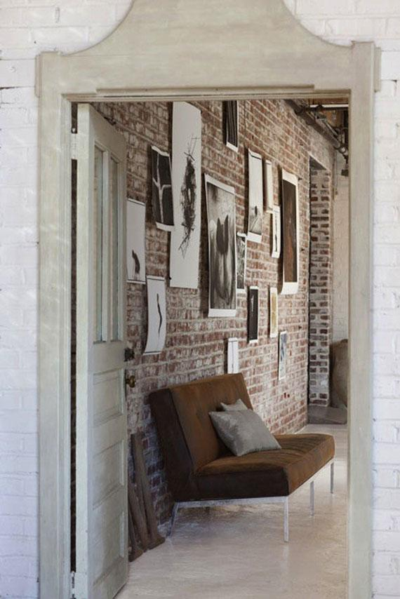 Artistic Living Room Decor: 20 Exposed Brick Walls In Modern Living Rooms