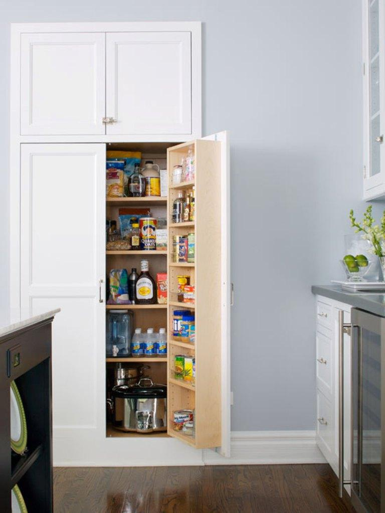 20 smart white kitchen pantry cabinets rilane for Kitchen pantry plans