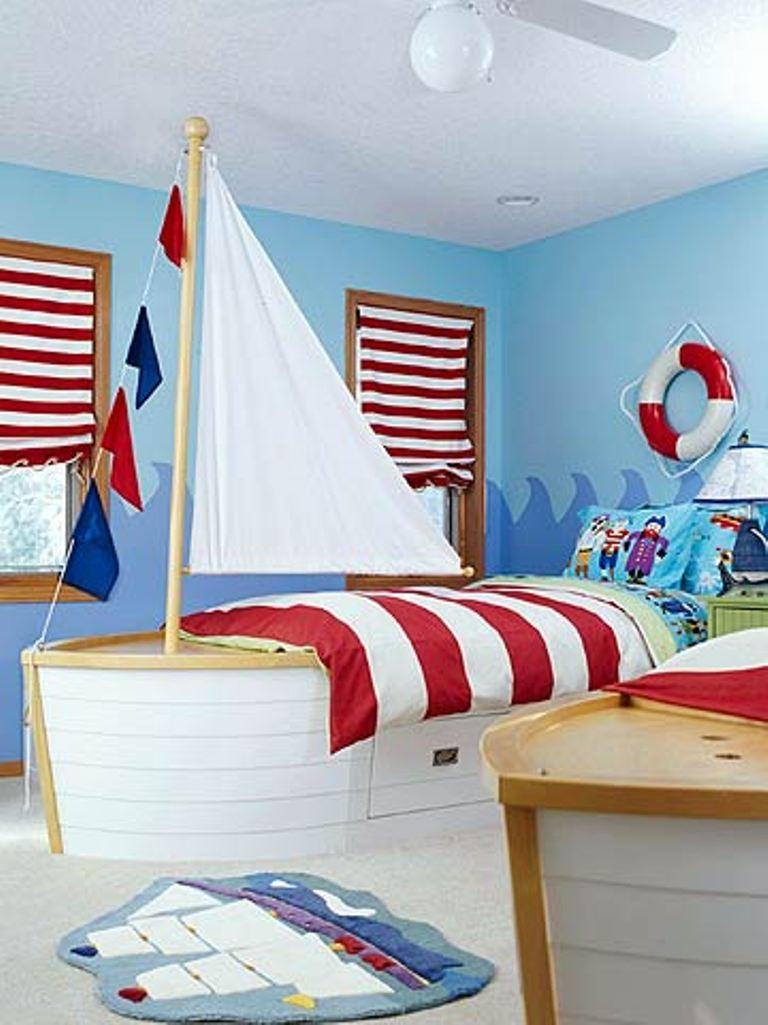 Charmant The Lille Sailman Blue Toddler Bedroom