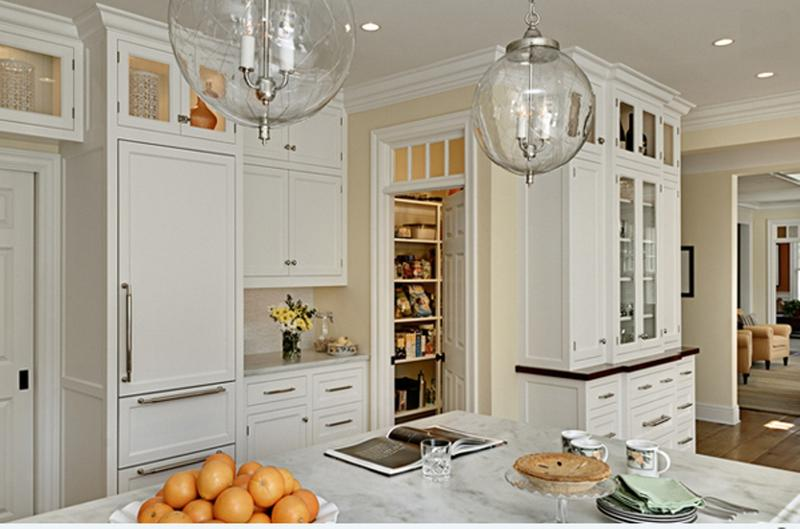 Traditional White Kitchen Pantry