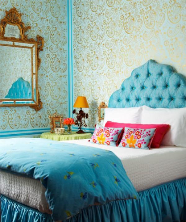 Bedroom Blue Paint Bedroom Design Pastel Small Bedroom Decorating Ideas Pinterest Bedroom Wallpaper Vintage: Vibrant Blue Bedroom Design Ideas
