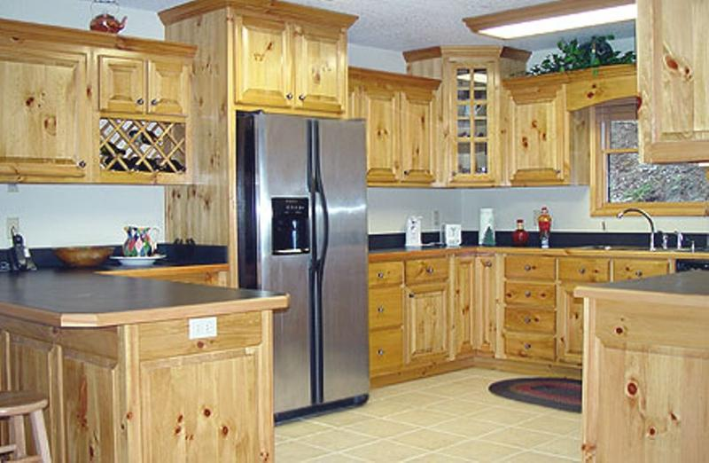 Unfinished Knotty Pine Kitchen Cabinets