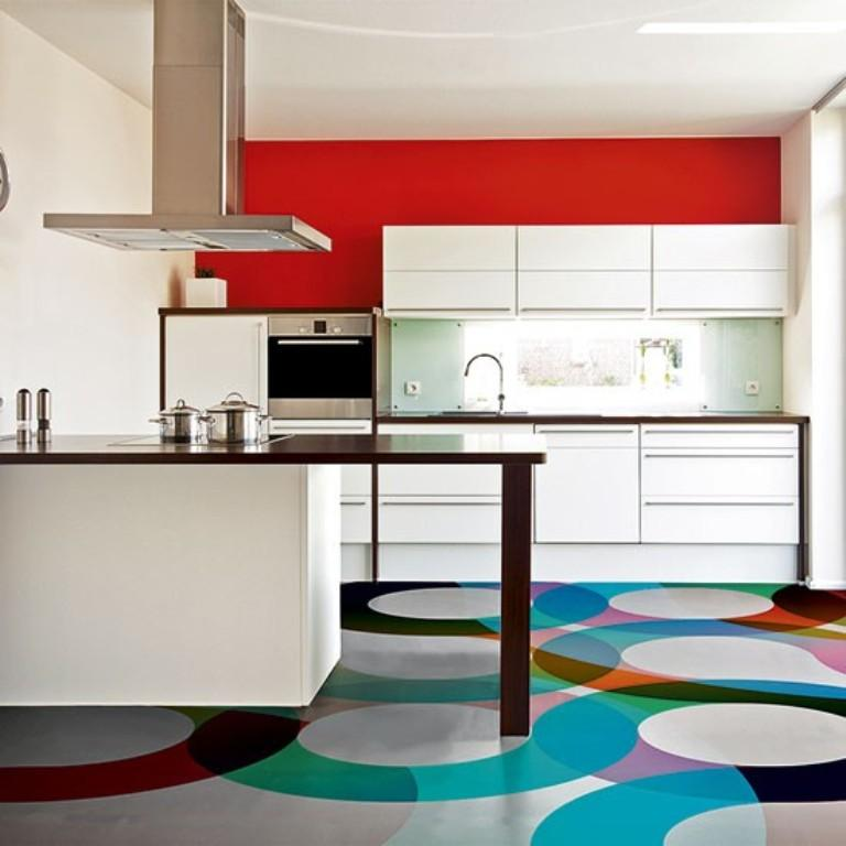 Vibrant Colorful Kitchen Design