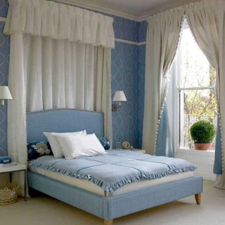 Vintage Light Blue Bedroom