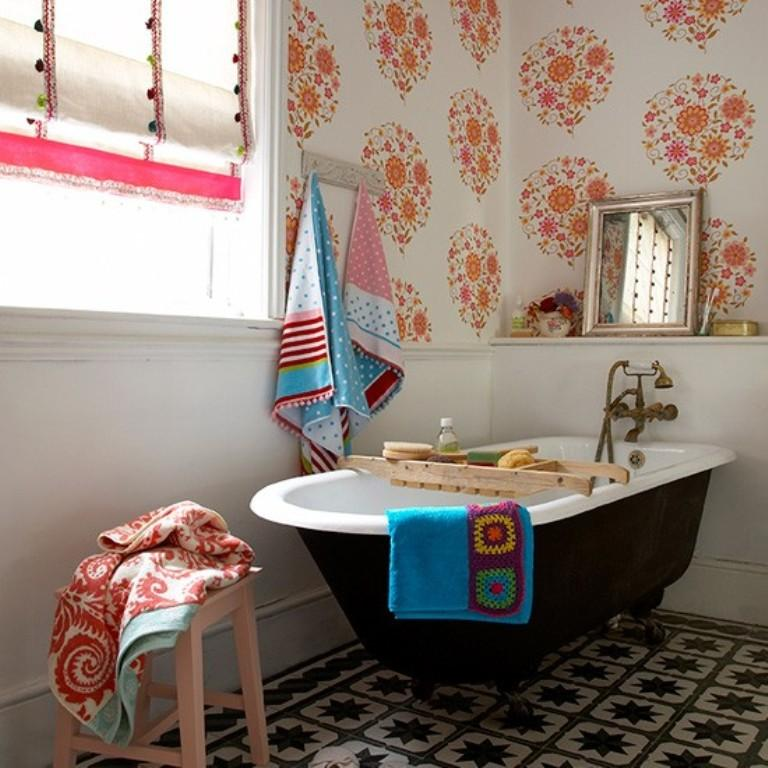 vivacious eclectic bathroom - Eclectic Bathroom