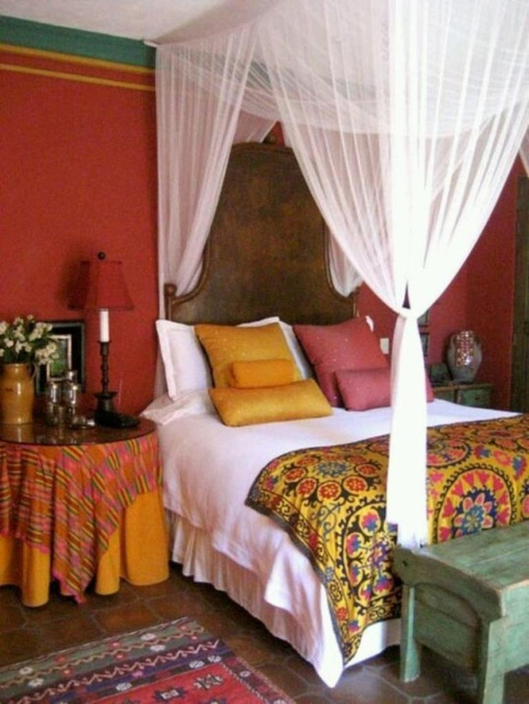 warm moroccan bedroom - Moroccan Bed Frame