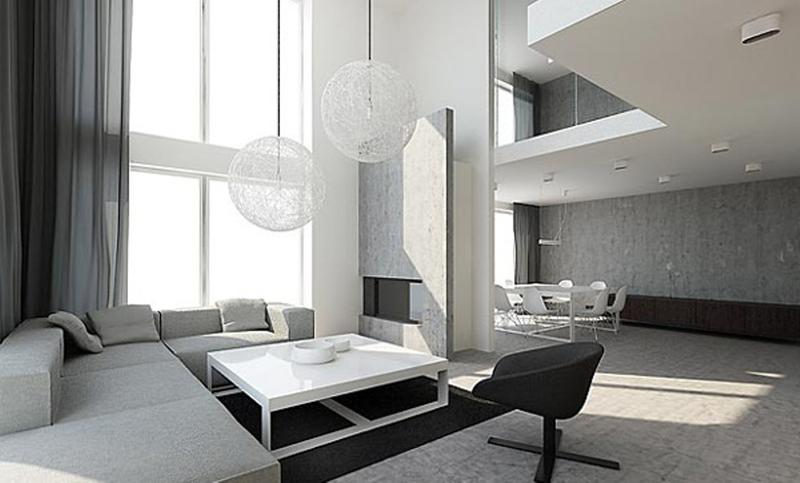 15 minimalist living room design ideas rilane for Modern minimalist interior design style