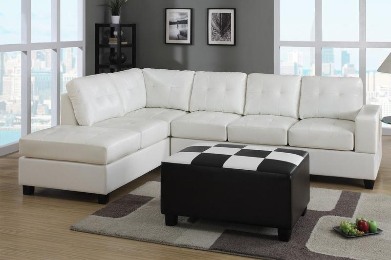 White Leather Sectional Sleeper Sofa : small white leather sectional - Sectionals, Sofas & Couches