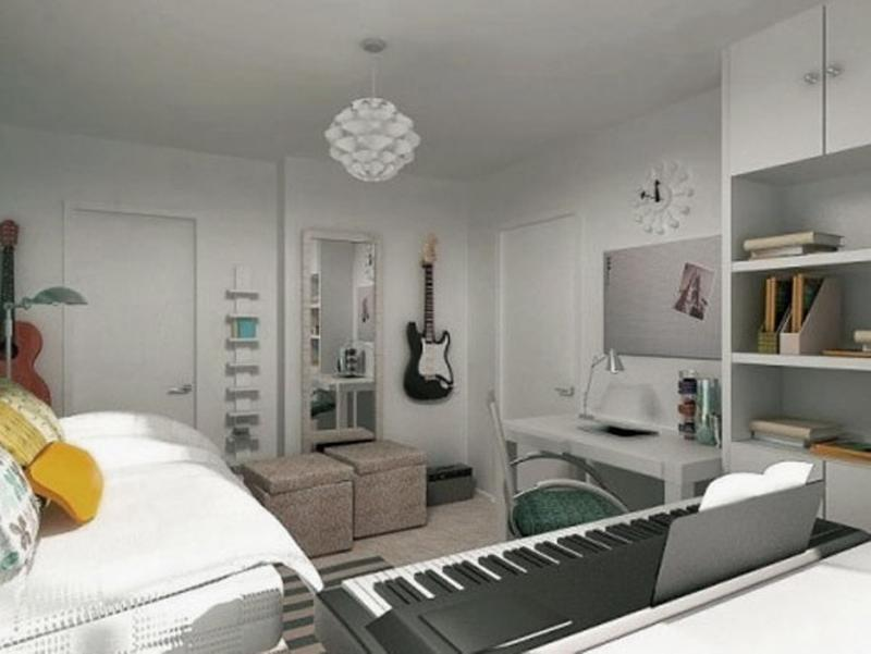 Music inspired bedrooms for teenagers rilane for Room decorating ideas music