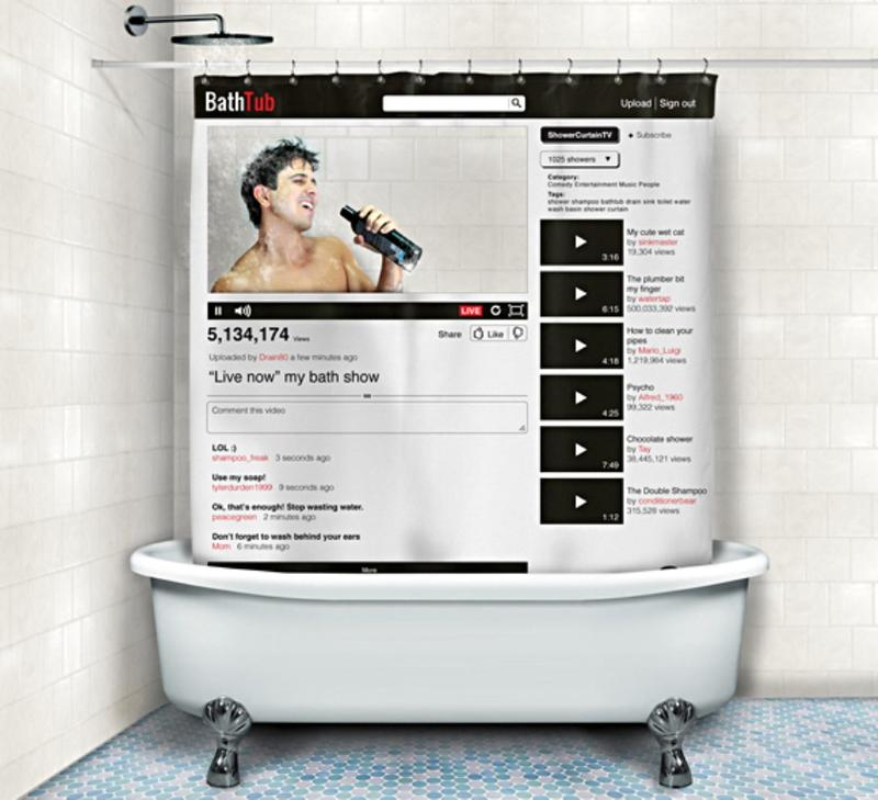 Social Shower Curtain Designs