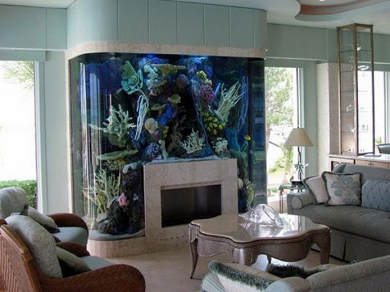 Giant Underwater Aquarium Living Room