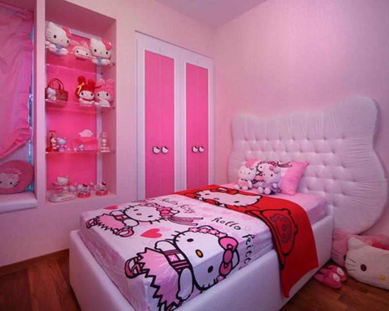 15 adorable hello kitty bedroom ideas for girls rilane - Decoration Hello Kitty Chambre