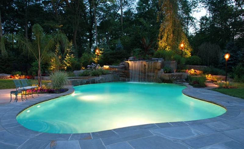 Amazing Backyard with pool and waterfall