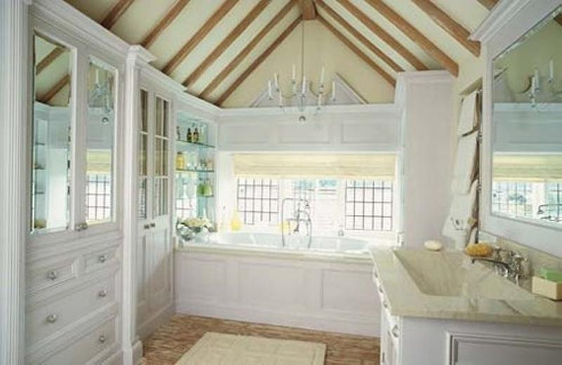 attic french country bathroom