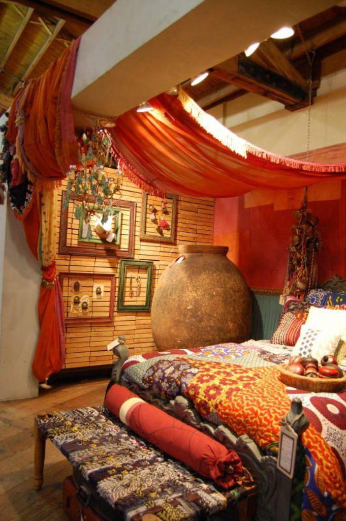 Lovely Authentic Bohemian Bedroom
