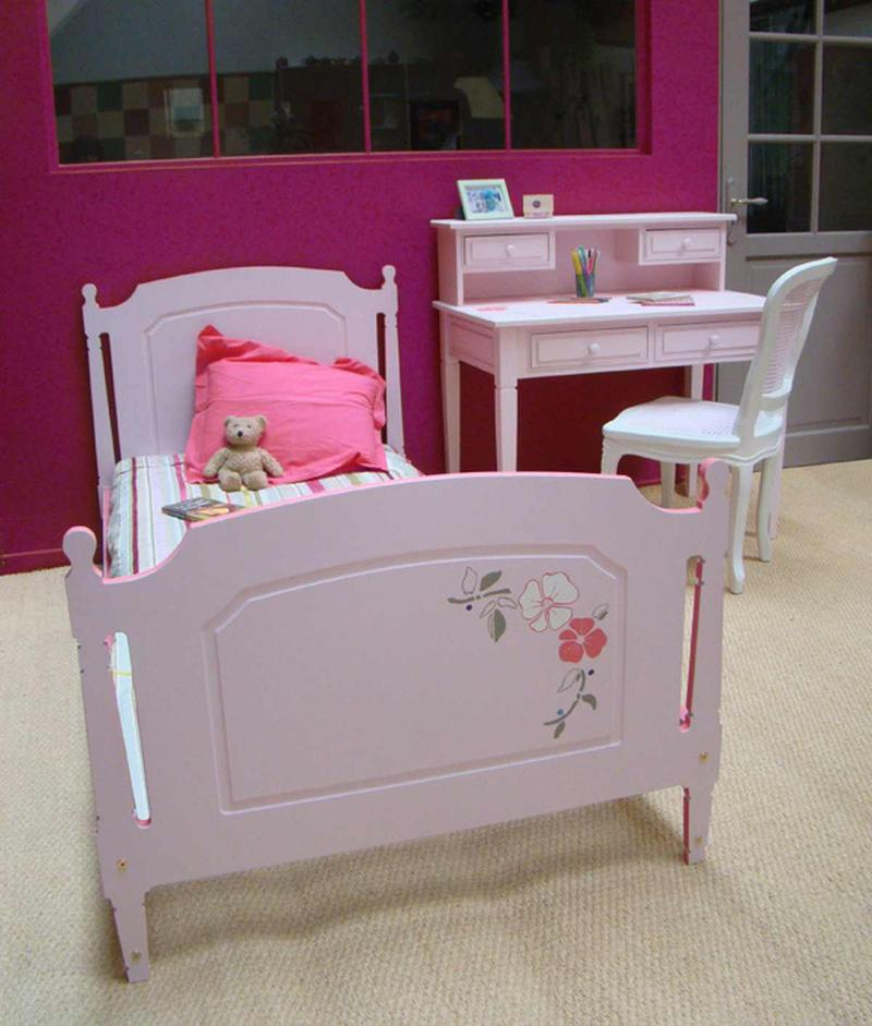 Baby Pink Single Bed With Flower Details