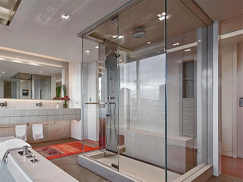 15 Contemporary Bathrooms with Glass Showers