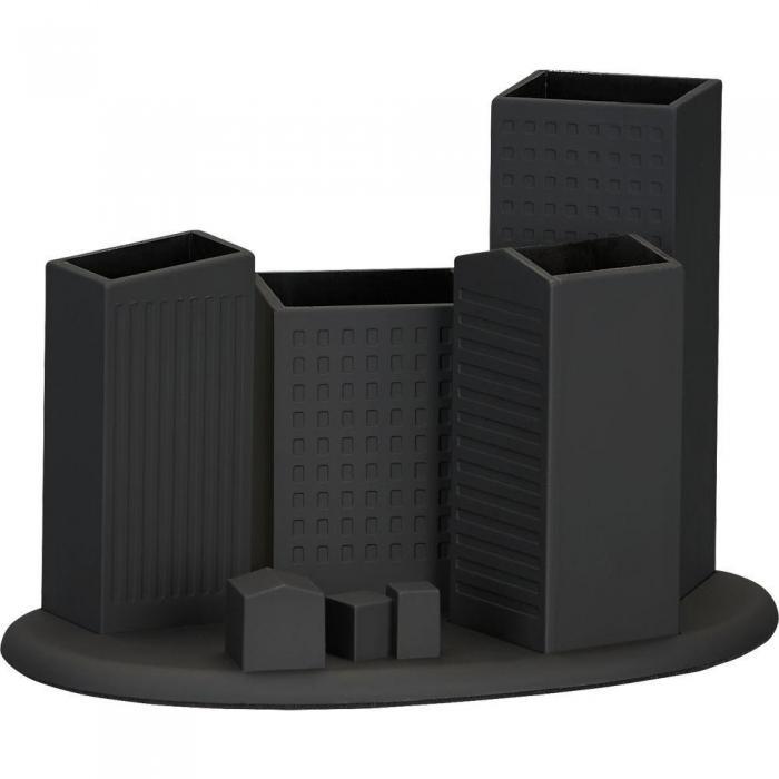 Black Building Model Desk Organizer