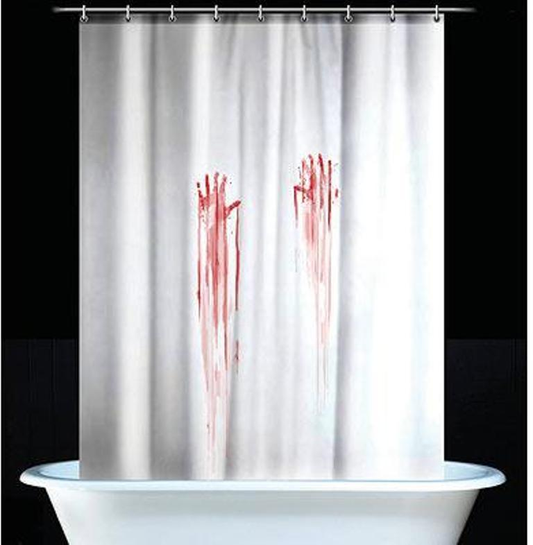 Bloody Hand Prints Psycho Shower Curtain