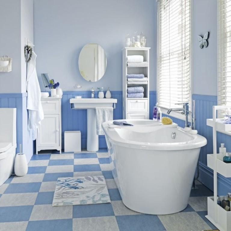 Blue Chest Floor Bathroom 20 Extremely Refreshing