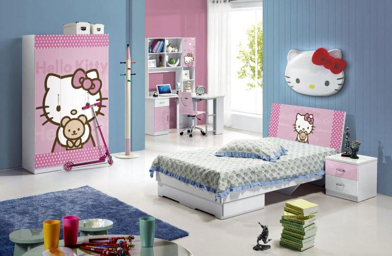 Hello Kitty Room Design Ideas Part - 38: Blue Hello Kitty Bedroom
