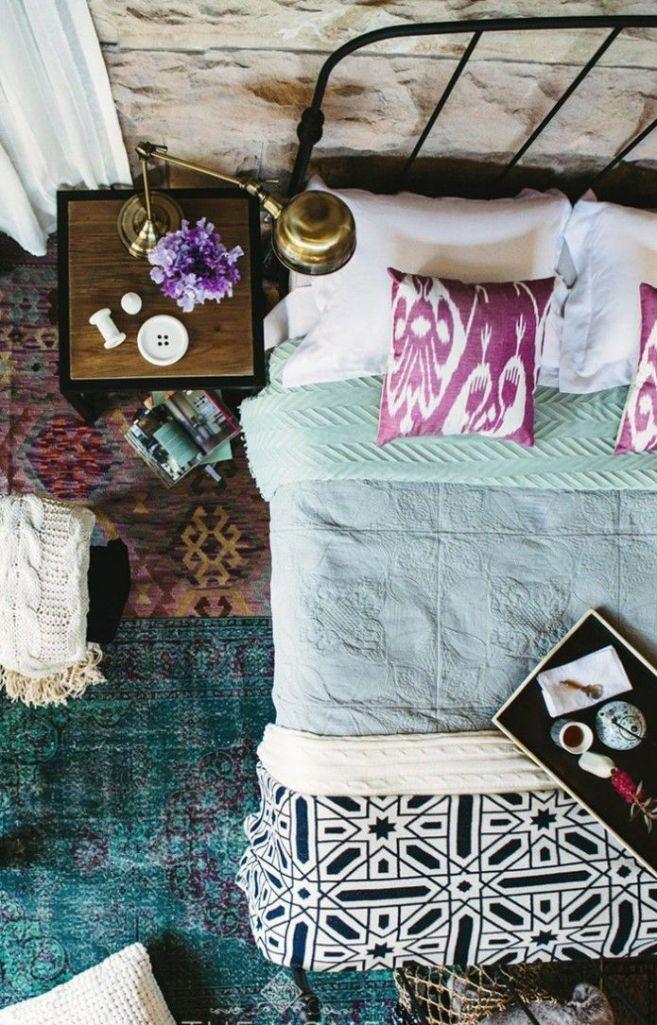 Purple Bohemian Bedroom 20 whimsical bohemian bedroom ideas - rilane