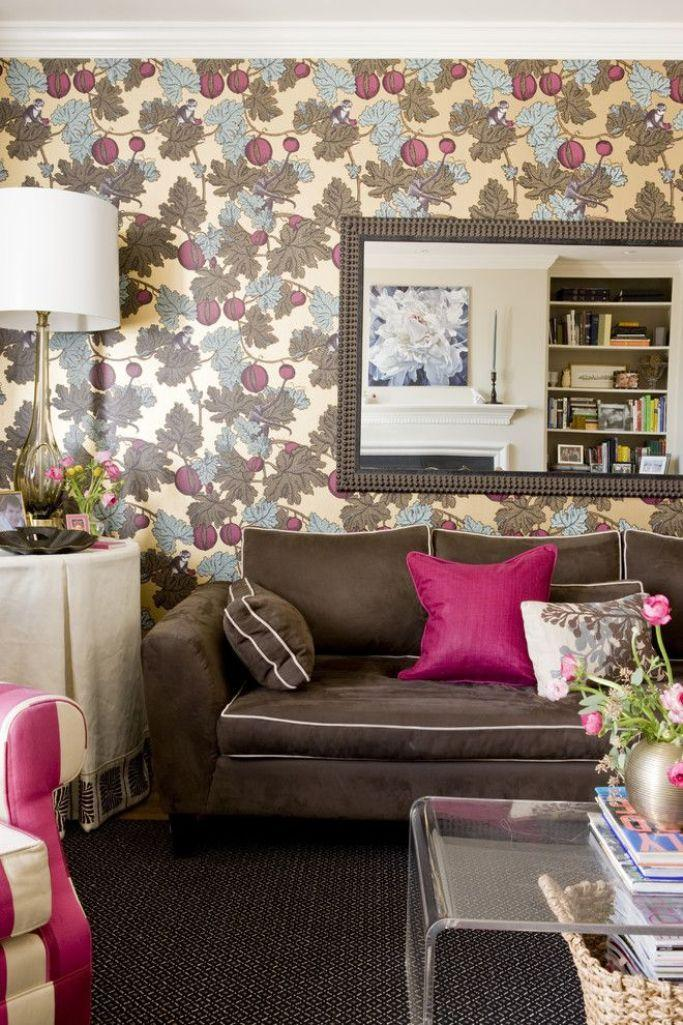 Wallpaper Designs For Living Room: 20 Living Rooms With Beautiful Floral Wallpaper