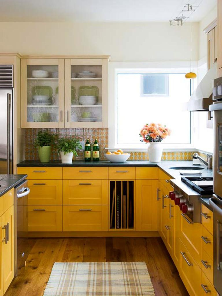 15 bright and cozy yellow kitchen designs rilane Kitchen design yellow and white