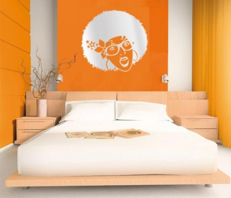 15 refreshing orange bedroom designs rilane