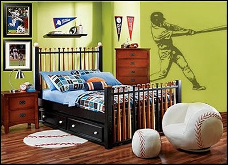 Bright Sports Inspired Bedroom