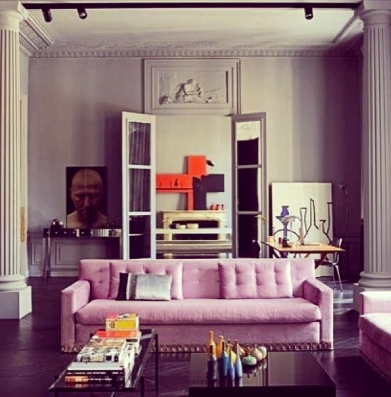Casual Pink Sofa