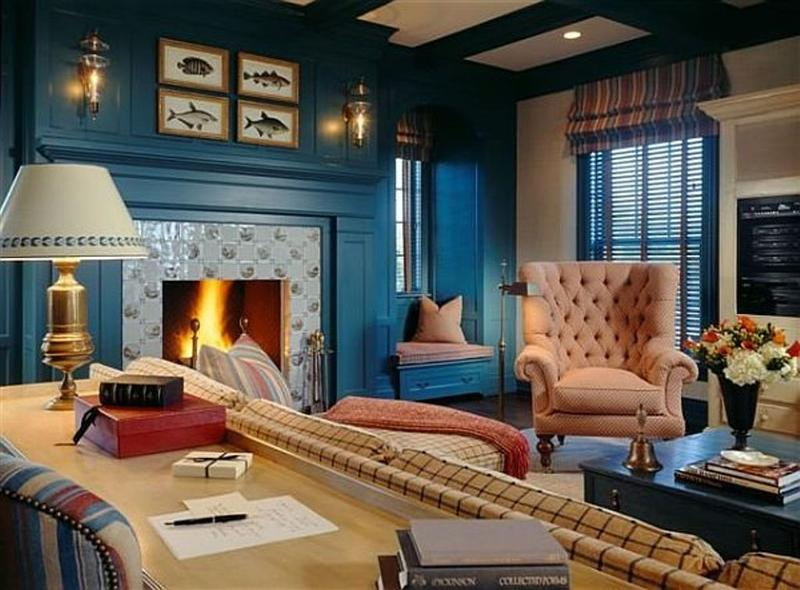 Chic Blue Living Room Part 79