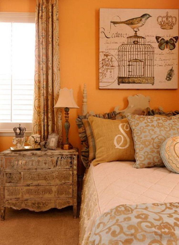 Clical Orange Bedroom