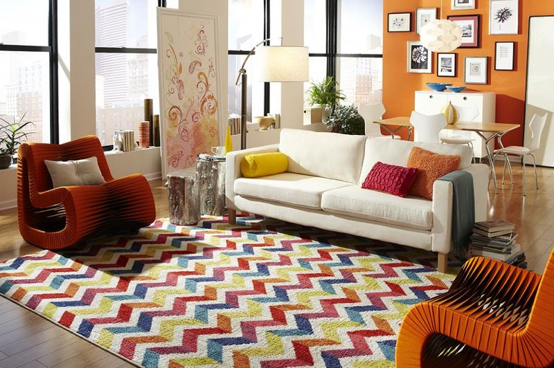 10 Modern Chevron Rug Designs for the Living Room - Rilane