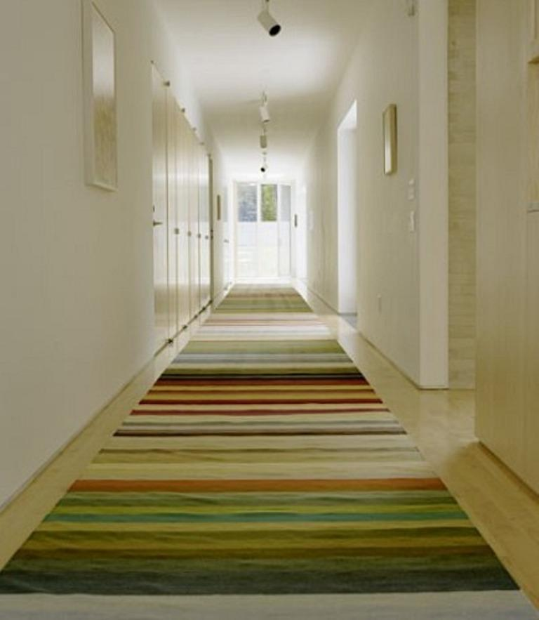 Colorful Striped Hallway Runner Rug