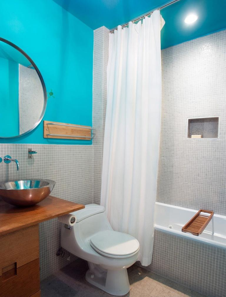 Contemporary And Fresh Blue Bath