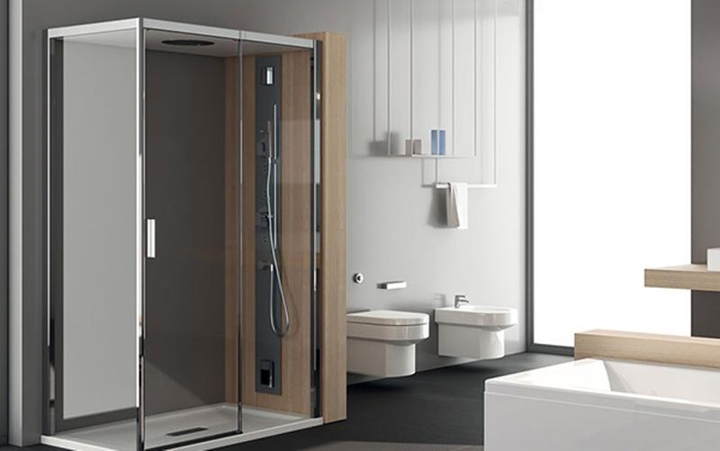 Contemporary Bathroom with Modern Glass Shower