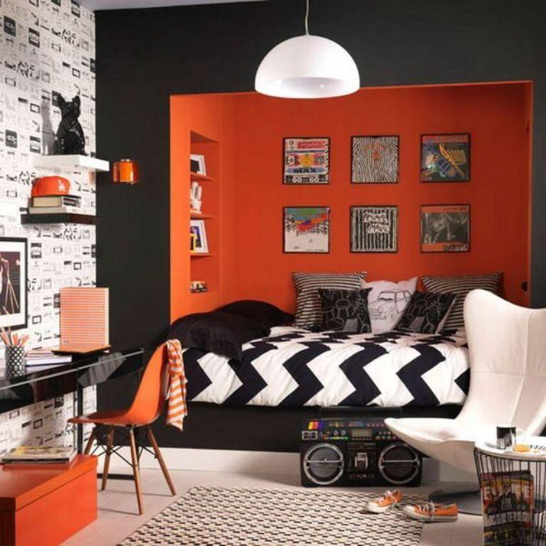 Boy Bedroom Paint Bedroom Canvas Wall Art Girls Bedroom Decor Ideas Modern Kids Bedroom Ceiling Designs: 15 Refreshing Orange Bedroom Designs